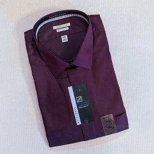 🆕 VAN HEUSEN No Iron Lux Sateen Dress Shirt